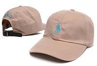 Кепка Cap by Ralph Lauren бежевая с голубым лого. Живое фото!