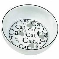 Миска Karlie-Flamingo Ceramic Cat для кошек керамика, 13 см