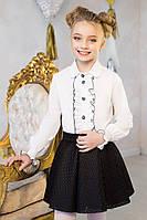 Школьная блузка для девочки, 122-152 p-p