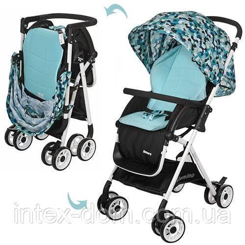 Детская прогулочная коляска Голубая (HC300-BLUE)