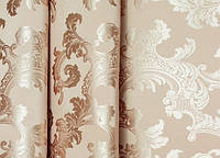 """Портьерная ткань  """"Геральдика"""" двухсторонняя, бронзовый"""