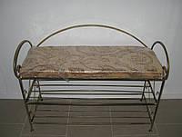 Пуфик кованый с полочками большой