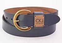 Женский кожаный серый ремень Calvin Klein Jeans , фото 1