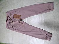 Модные коттоновые брюки на манжете для мальчика 122-164