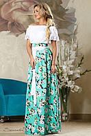Стильная женская юбка 2170 бирюзовый