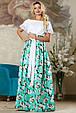 Стильная женская юбка 2170 бирюзовый, фото 2