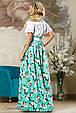 Стильная женская юбка 2170 бирюзовый, фото 4