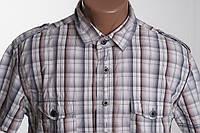 Gio Goi  рубашка к/р размер M ПОГ  52 см  б/у ОТЛИЧНОЕ СОСТОЯНИЕ