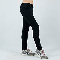 Трикотажные теплые черные женские спортивные штаны