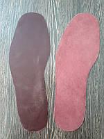 Стелька из натуральной кожи для ремонта обуви цвет Бордовый