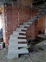 Бетонная лестница для дома(монолитные)