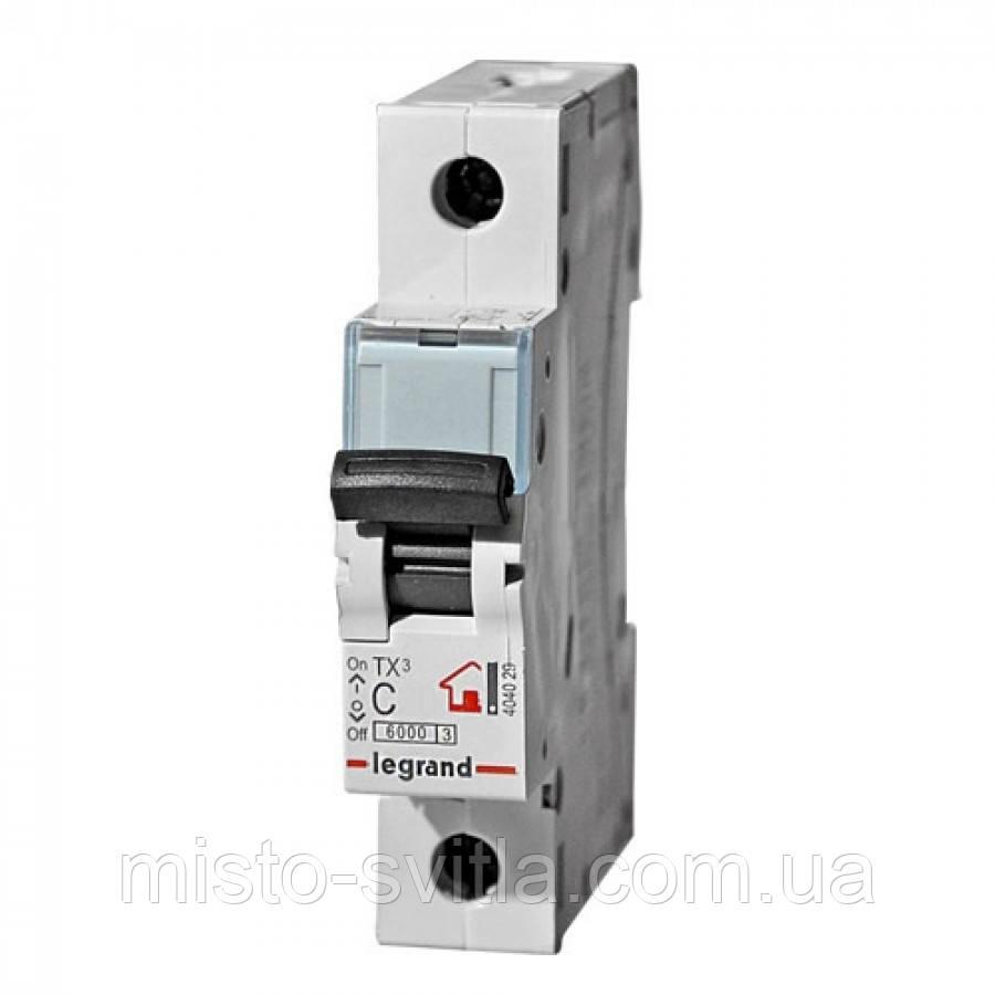 Автоматичний вимикач TX3 6А 1п 6кА C автомат Legrand Легранд
