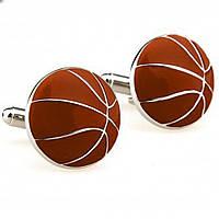 Bow Tie House™ Запонки коричневые спортивные - баскетбольный мяч