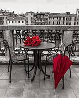 Рисование по номерам 40×50 см. Красный зонт Фотохудожник Ассаф Франк