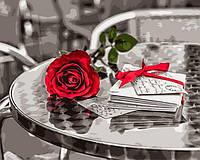 Раскраски для взрослых 40×50 см. Красная роза Фотохудожник Ассаф Франк, фото 1