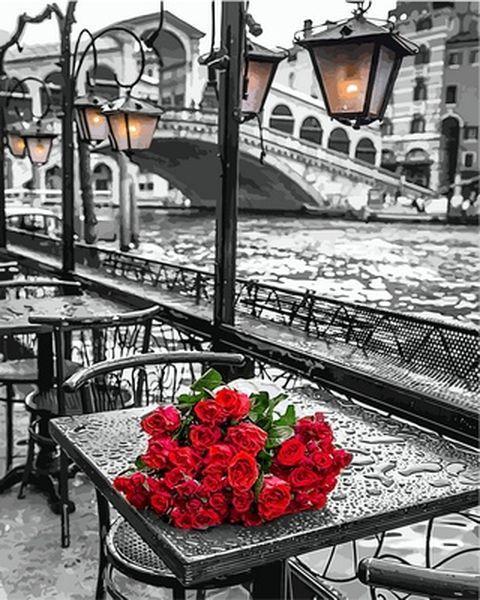 Раскраски для взрослых 40×50 см. У моста Риальто в Венеции Фотохудожник Ассаф Франк