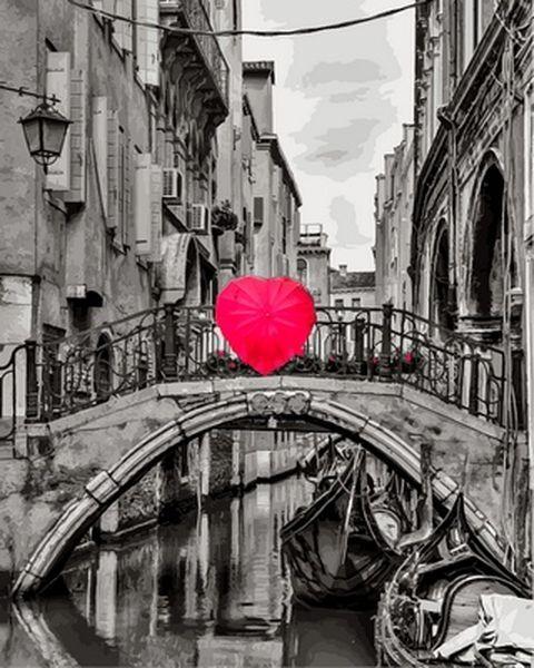 Рисование по номерам 40×50 см. Сердце Венеции Фотохудожник Ассаф Франк