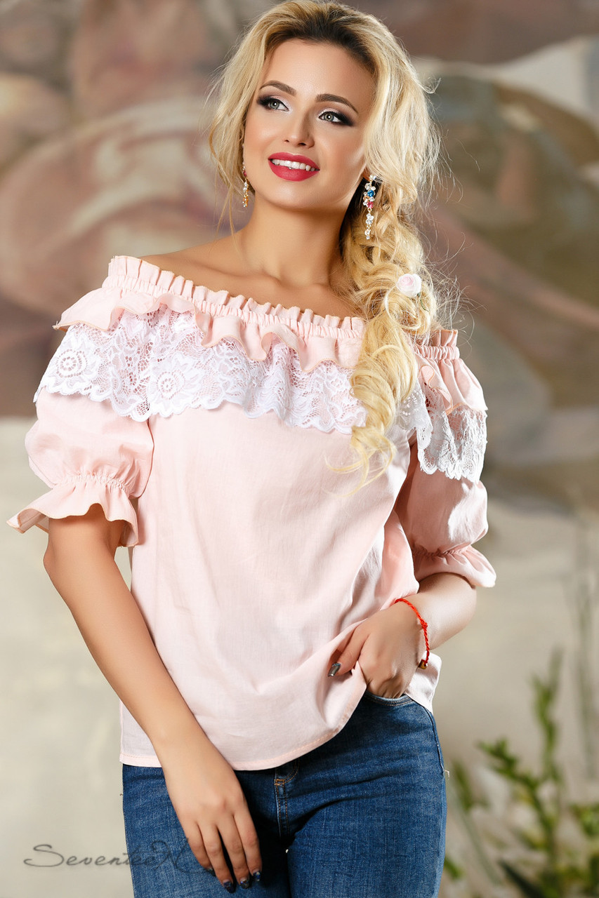 Блуза 2163 персиковий