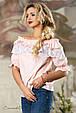 Блуза 2163 персиковий, фото 2
