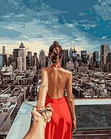 Картины по номерам 40×50 см. Cледуй за мной Нью-Йорк Фотохудожник Мурад Османн