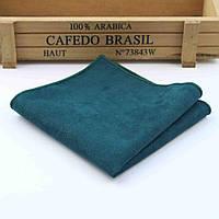 Bow Tie House™ Платок темно-зеленый с замшевой ткани