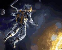 Раскраски по номерам 40×50 см. Астронавт NASA в открытом космосе, фото 1