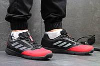Мужские кроссовки Adidas Terrex, черно красные / кроссовки мужские  Адидас Терекс, плотная сетка + пресс кожа