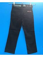 Школьные черные коттоновые брюки для мальчика 116-134