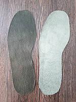 Стелька из натуральной кожи для ремонта обуви цвет Темно зеленый