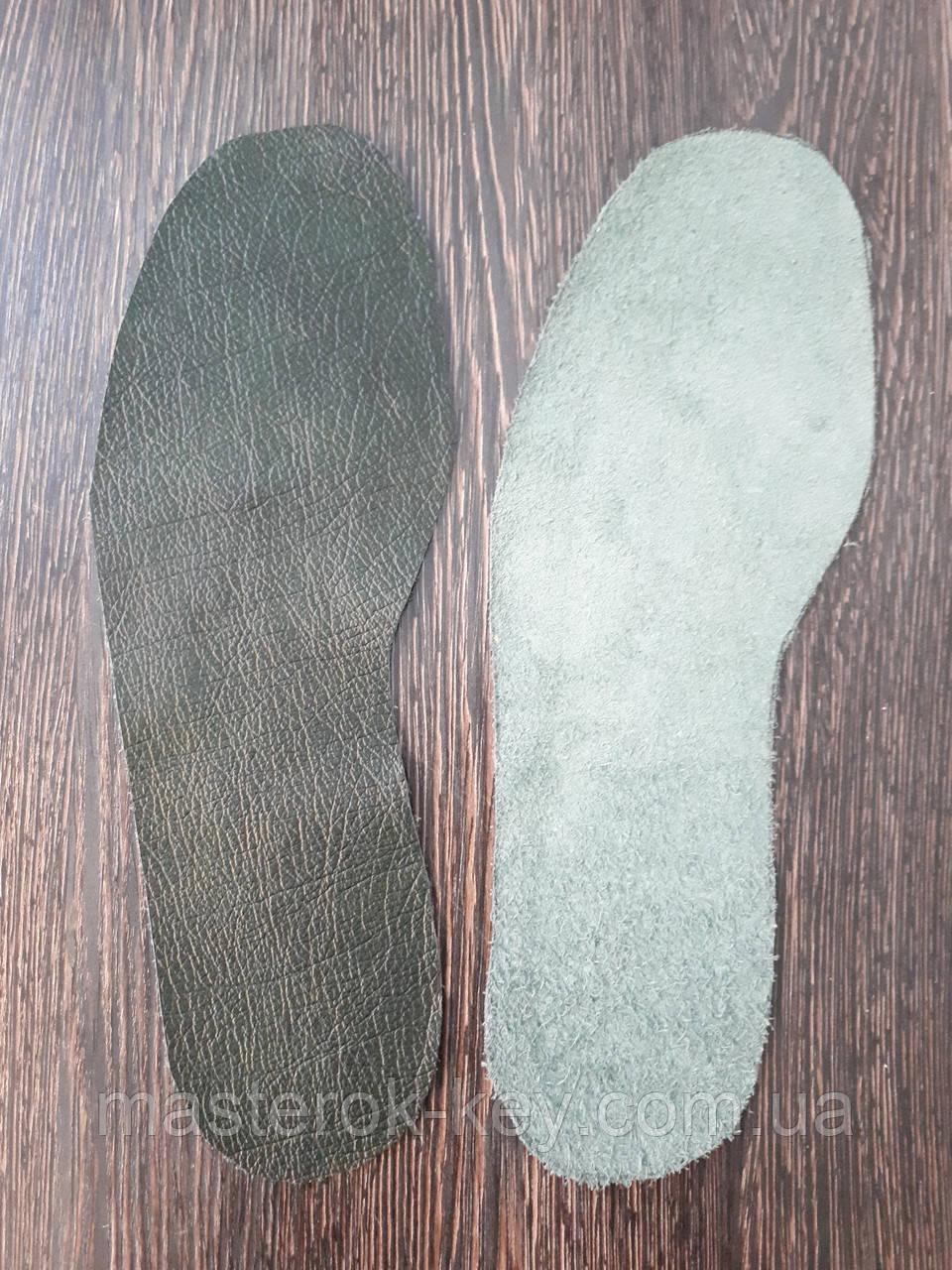 """Стелька из натуральной кожи для ремонта обуви цвет Темно зеленый - Компания """"Мастерок"""" в Днепре"""