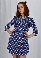 Платье-туника в горошек