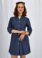 Ультра модное женское платье в мелкий горошек