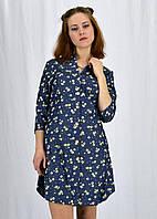 Модное женское платье в цветы