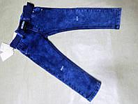 Стрейчевые джинсы для мальчика рваные на коленке 98-128