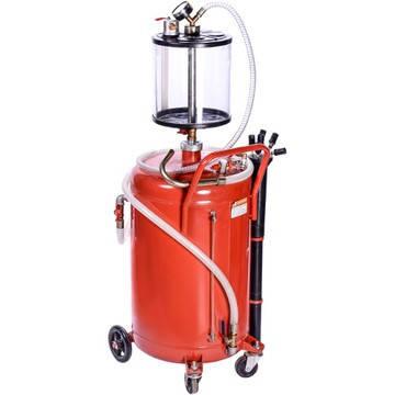 Установка для вакуумной откачки масла с мерной колбой (80л.) G.I.Kraft B8010KV, фото 2