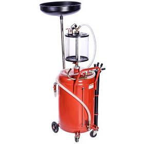 Установка для слива и вакуумной откачки масла с мерной колбой (80л.) G.I. Kraft B8010KVS