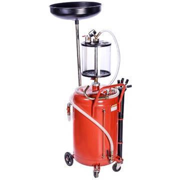 Установка для слива и вакуумной откачки масла с мерной колбой (80л.) G.I. Kraft B8010KVS, фото 2