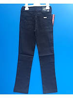 Коттоновые брюки для мальчика темносиние 5-12 лет