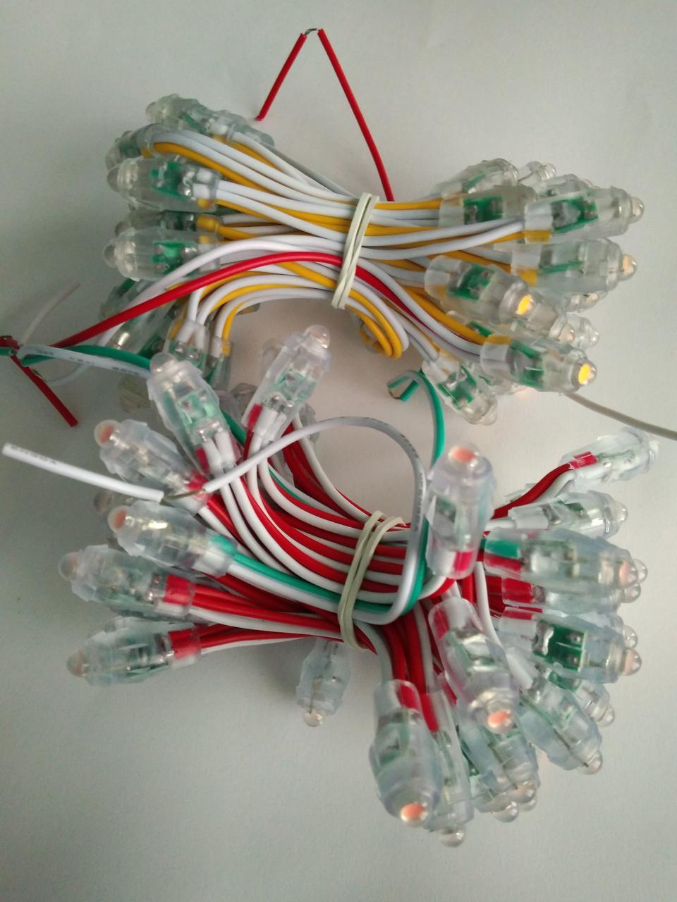 Світлодіоди швидкого монтажу 9мм, светодиоды быстрого монтажа 12 вольт синій