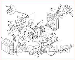 Запасные части к горелке Riello серии Gulliver BS/D