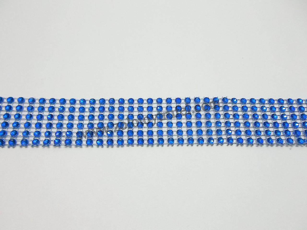"""Лента для декора """"Синие камни"""" h-3 см"""