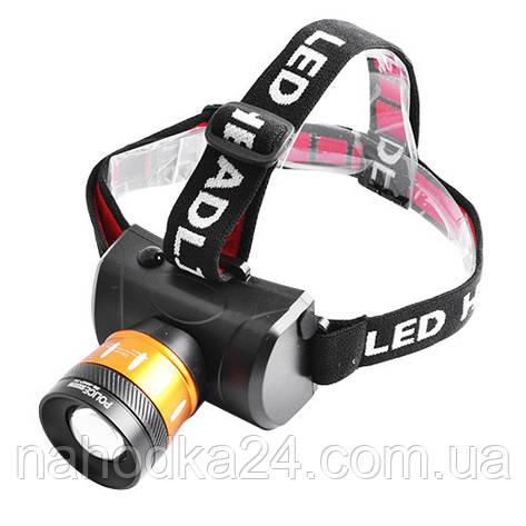 Налобный фонарь Police 6966 T6 50000W, фото 2