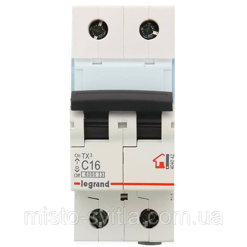 Автоматический выключатель TX3 20А 2п 6кА C (автомат) Legrand Легранд