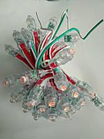 Светодиоды быстрого монтажа 9мм, светодиоды пиксели 12 вольт для рекламы красный