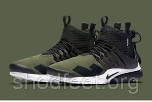 Мужские кроссовки Nike Air Presto Mid x Acronym Olive Black