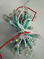 Светодиоды быстрого монтажа 9мм, светодиоды пиксели 12 вольт для рекламы зеленый