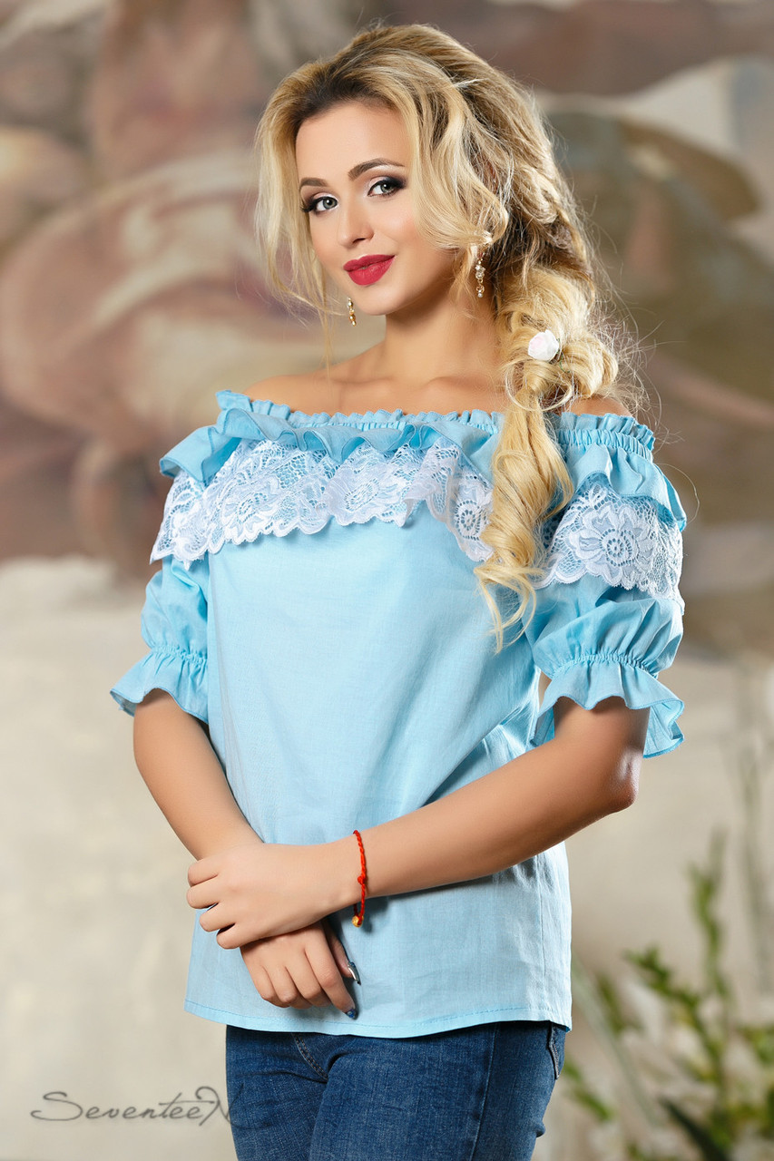 Блуза 2162 голубой