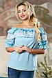 Блуза 2162 голубой, фото 3