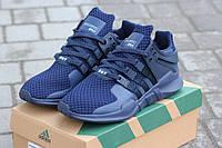 Мужские кроссовки Adidas Equipment, сетка + пресс кожа, синие / кроссовки мужские  Адидас Эквипмент, стильные
