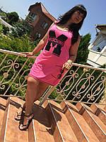 Жіноче плаття-майка М-ка бавовна малина батал (Платье М-ка хлопок малина батал)